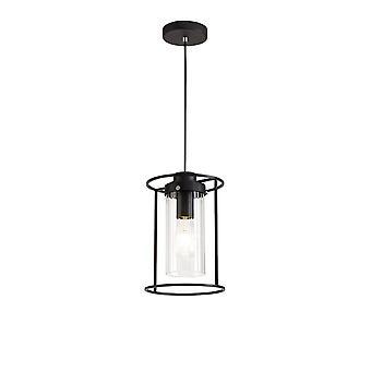 Luminosa Beleuchtung - einzelne Decke Anhänger, 1 Licht E27, schwarz, Klarglas