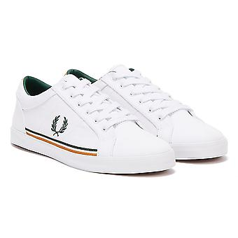 Fred Perry Baseline Twill Mens White / Green Trainers