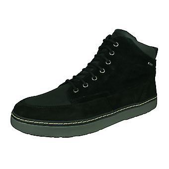 Geox U Mattias B ABX B menns Suede vanntett støvler/sko-svart