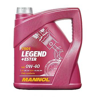 Mannol 4L LEGEND+ESTER Engine Oil 0W-40 API SN/CH-4 Acea A3/B3/B4 BMW LL-01