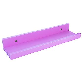 32.5cm Floating Wooden Picture Ledge Wall Shelves - Pink