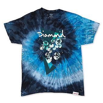 Diamond Supply Co Galactic Diamond T-shirt Tie Dye Blue