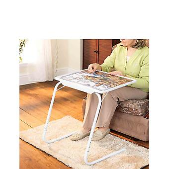 Chums Table Valet Portable Foldable TV Laptop White Jigsaw Tray