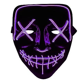 The Purge LED Neon Mask, Halloween - Purple