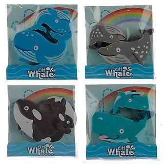 Fun Whale Eraser Set of 2 X 1 Pack