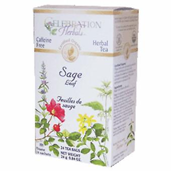Celebration Herbals Organic Sage Leaf Tea, 24 Bags