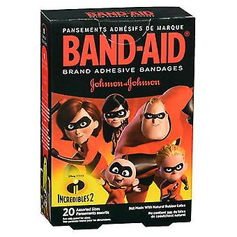Band-Aid Adhesive Bandages Disney Pixar Incredibles 2 Assorted Sizes, 20 Each