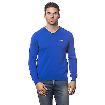 Roberto Cavalli Sport Bluette Royal V-Neck Sweater
