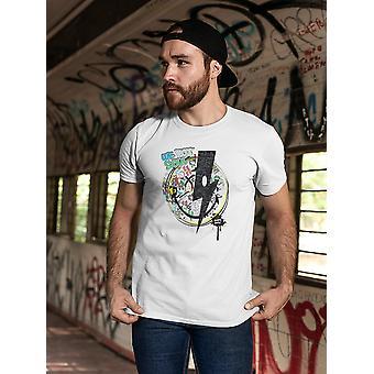 SmileyWorld Graffiti Black Thunder We Got Soul Men's T-shirt