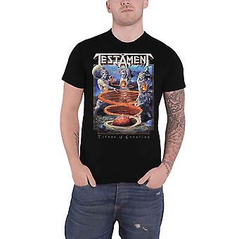 Testament T Shirt Titans Of Creation Band Logo new Official Mens Black