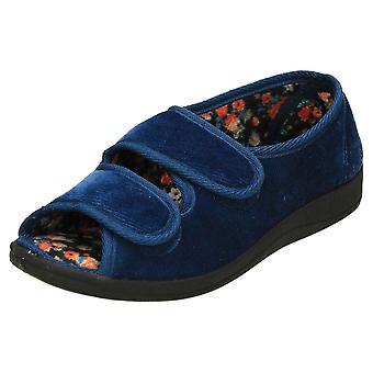 Four Seasons Wide Fit Open Toe Slippers Cushioned Shoes