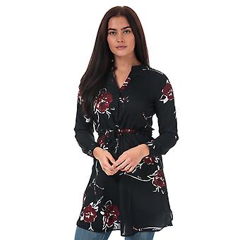 Women's Only Cory V-Neck Floral Tunic in Blue