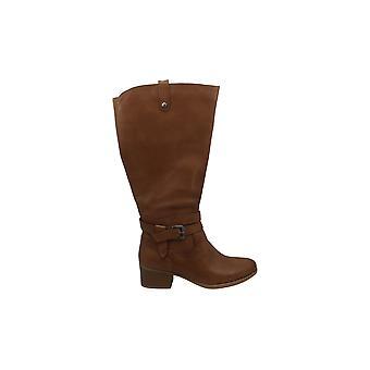 Naturalizer Womens Kim läder mandel tå knä höga mode stövlar