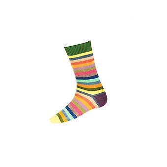 Huset cheviot gents stripete korte sokker ~ eføy grønn