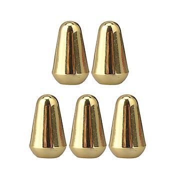 5 Pack Elektrische Gitaar Plastic Slot Type Toggle Switch Tips 5 Way Golden