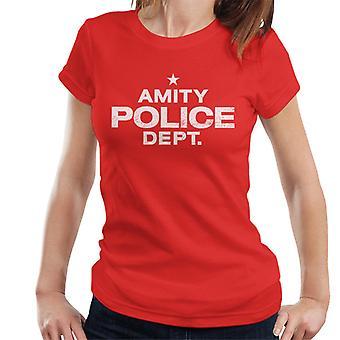 Jaws Amity Politiet Dept Kvinner's T-skjorte