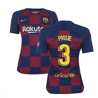 2019-2020 Barcelona Home Nike Ladies Shirt (PIQUE 3)