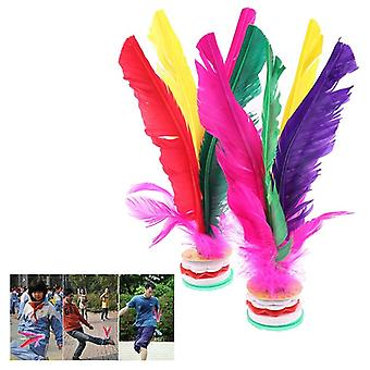 Colorful Feather Foot Shuttlecock