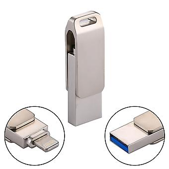 RQW-10G 2 in 1 USB 2.0 & 8 Pin 32GB Flash Drive, for iPhone & iPad & iPod & Most Android Smartphones & PC Computer