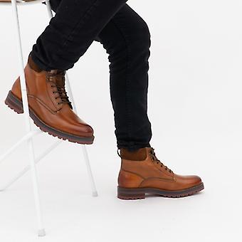 Βάση Λονδίνο Maidon Mens δερμάτινες μπότες αστράγαλο μαύρισμα
