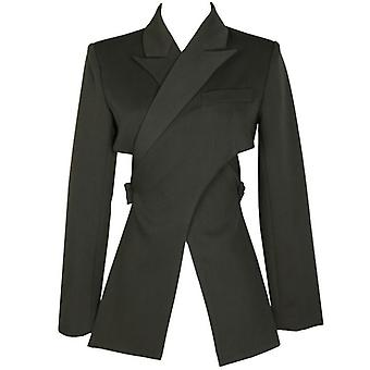 Long Sleeve Loose Fit Jacket - Cross Split Joint Blazer