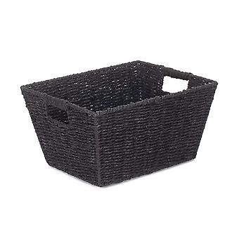 Bandeja profunda de corda de papel preto pequeno
