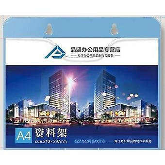 A4 Wall Mount Sign Holder, Display Frame File Literature Pocket