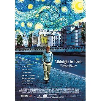 Mitternacht in Paris-Film-Plakat-Druck (27 x 40)