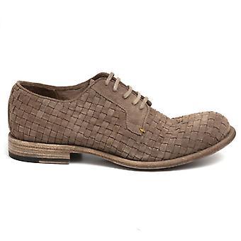 Barrow férfi cipő;S Barna fonott velúr