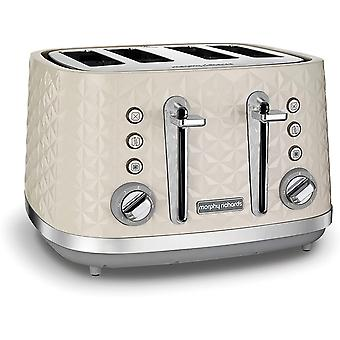 Morphy Richards Vector 4 Slice Toaster 248132 Cream Four Slice Toaster