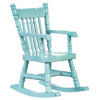 Dolls House Soft Blue Rocking Chair Rocker 1:12 Miniatuur Kinderkamer meubilair