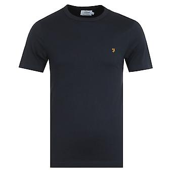 Farah Danny Organic Cotton T-Shirt - True Navy