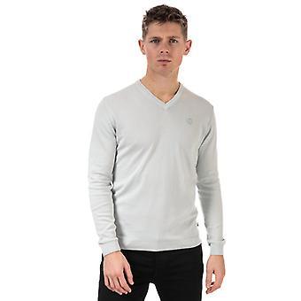 Men's Henri Lloyd Cotton V-Neck Jumper in White