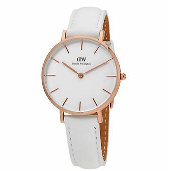 Daniel Wellington damas reloj clásico Petite Bondi cuero blanco DW00100189