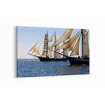 Gemälde - Segelboote - 90x60cm
