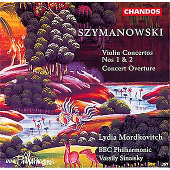 K. Szymanowski - Karol Szymanowski: Violin Concertos; Concert Overture [CD] USA import