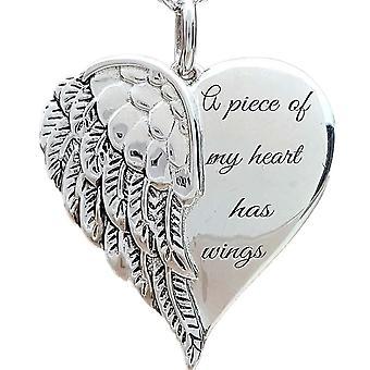 Heart Wings Pattern Pendant Necklace
