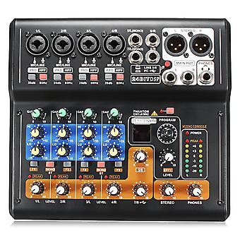 Portable 8 Channel Professional Live Studio Audio KTV Karaoke Mixer USB Mixing Console 48V