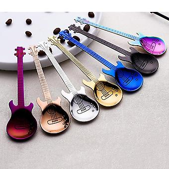 Stainless Steel Guitar Shaped Love Coffee Spoon