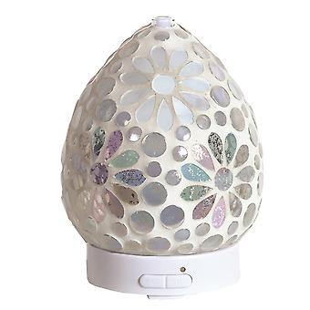 Aroma Mosaic LED Ultrasonic Electric Oil Diffuser Aromatherapy Pearl Floral