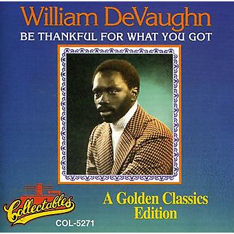 William Devaughn - Be Thankful for What You Got [CD] USA import