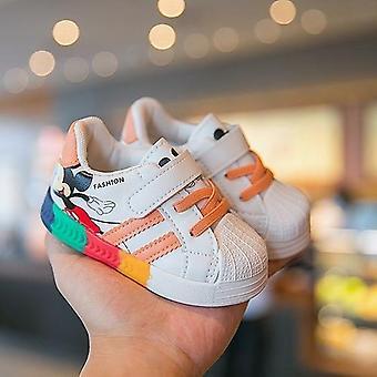 ディズニー秋新しいベビーシューズ スニーカー 白い靴