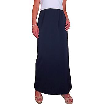 Mujeres's falda maxi largo elegante elegante cintura elástica de longitud completa falda de tubo 10-22