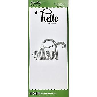 Picket Fence Studios Slim Line ylisized Hello Word kuolee