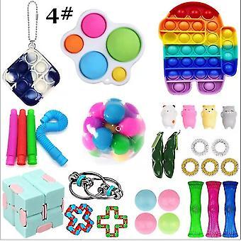 30 stuks / set sensorische fidget speelgoed stress relief speelgoed sets, 4 #
