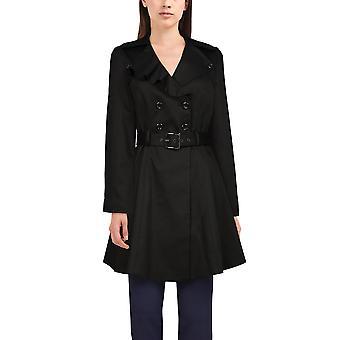 Elegante chaqueta de cuello asimétrico Star en negro