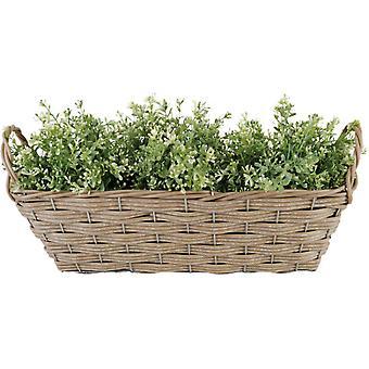 artificial willow basket 48 x 21 cm PP brown