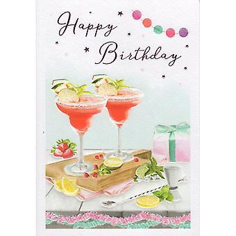 ICG Ltd Open Birthday Card Essence Range - Cocktails