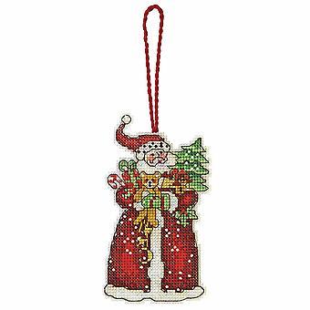 Dimensions Counted Cross Stitch: Ornament: Santa