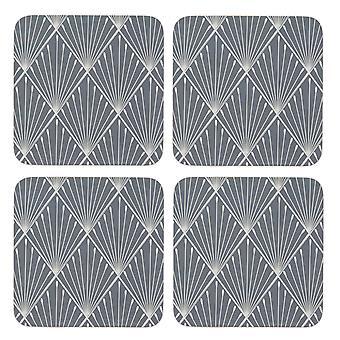 English Tableware Co. Geometric Set of 4 Coasters